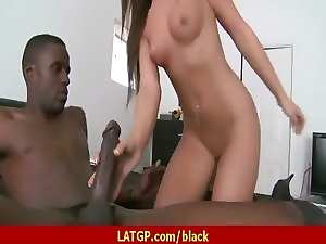 Big tit Mommy riding large black pecker 22
