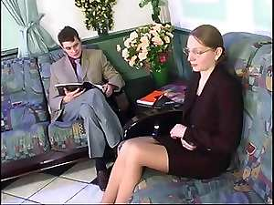 Sexual Sensual russian Mommy Banged In The Waiting Room !