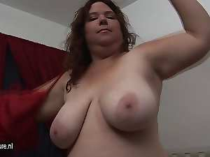 Experienced Obese Shy loves to play with her toy