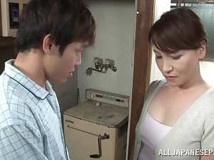 Hot Japanese milf Yuuri Saejima in a tough screwing action