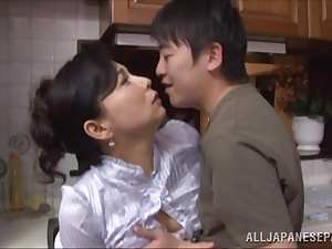 Mai Itou hot mature Asian babe gets fucked in the kitchen