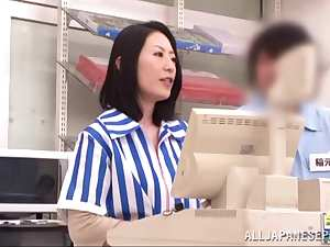 Asian milf is kinky and enjoys public sex