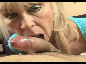 Large tit GILF Shelley works her magic on a weenie- POV