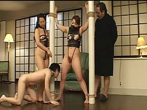 Japanese bdsm video with handsome bitches