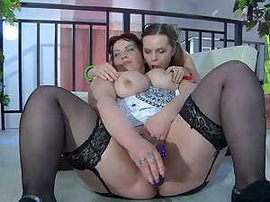 KissMatures Video: Caroline M and Kitty A