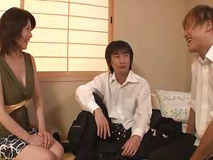 Eriko Miura hot mature Asian babe enjoys hot group action