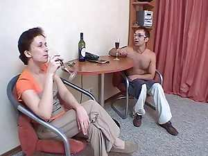 Mature Russian women and boy