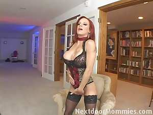 Next Door Mommies: Redhead mom swallows cum from a big cock