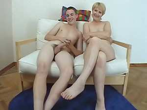 Mature slut and NOT her son