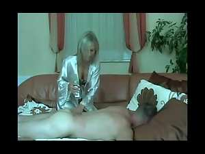 Golden haired mature whore giving husband a quickie