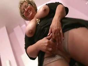 French plump older fisted