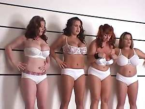 BBW four girls playing