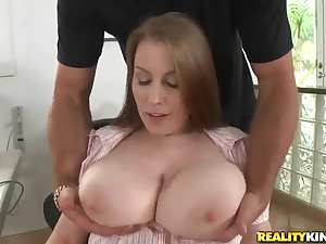 Jmac greedily holds Desiree's tits in his hands