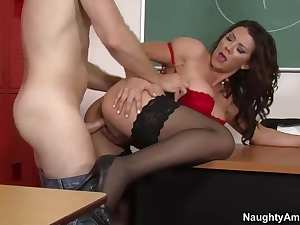 Leena Sky is a dirty teacher of Levi Cash
