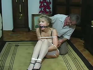 Bondage games with his mature wife