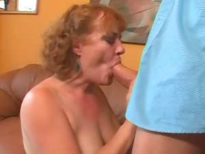 Fat mature anal sex with close up