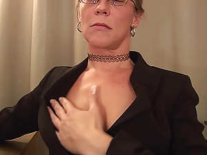 Mature secretary fucked in office