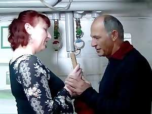German experienced redhead mature whore and the plumber - Amanda