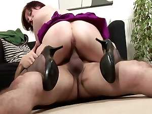Mum in stockings fucked from behind