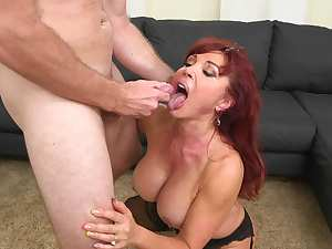 Busty mom goes dirty on her step son