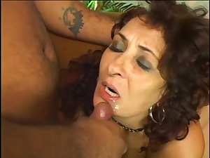 Mature with curves banged in hairy pussy
