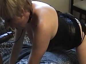 Awesome BDSM scene with perverted milf slave