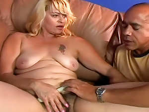 Hairy mature handjob and hardcore sex