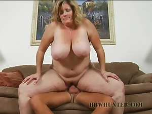Chubby blonde fatty gets screwed by horny bloke