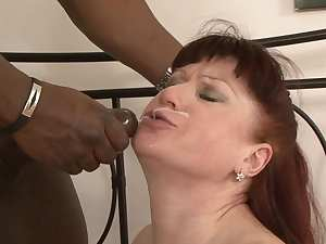 Awesome mom Esmeralda fucks with black