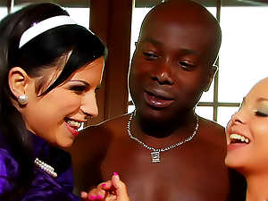 Satin ladies interracial hardcore sex