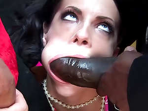 Lipstick girl is big cock slut