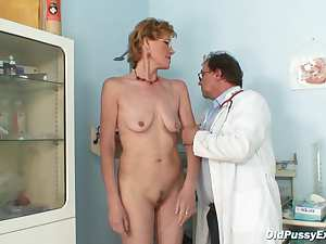 Doctor gives a thorough exam