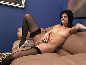 Slim sexy milf in stockings hardcore sex