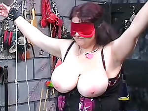 Fat girl is a kinky BDSM slut