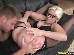 Milf in gorgeous glasses laid