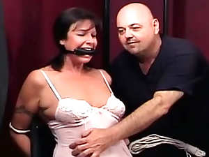 Two girls get bound, gagged and drilled with toys