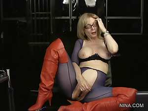Legendary Nina and giant vibrator