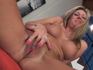 Horny mom goes wild on a fat dick