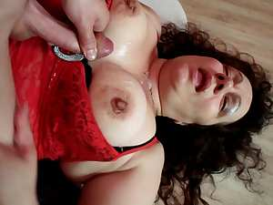 Euro mature woman fucked by her younger lover