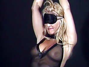 Hot blonde is totally wild for bondage