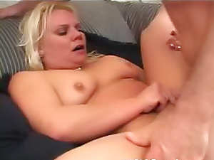 Plowing plump blonde mature hard
