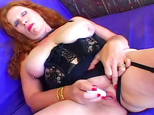 Curvy mature redhead boned doggystyle