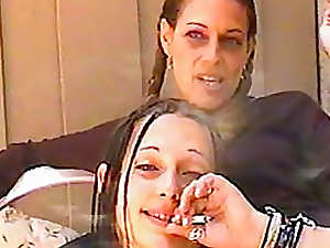 Women smoke and talk to the camera