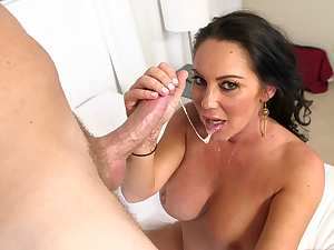 Huge tits milf goes wild on cock