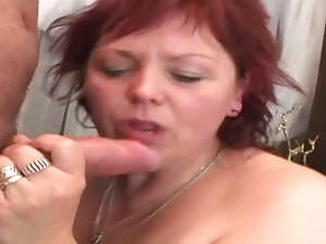 Redhead Baby in age with big tits is having nonstop fuck on the sofa