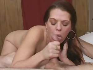 Stunning assy chick is getting cum in her mouth