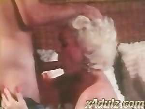 Retro Grey Haired Granny Gives Sensuous Deepthroat and Tit Job