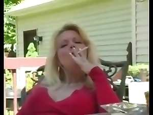 Great sensual filthy bitch smoking