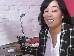 Thick Asian Mommy MIYA at Work in HD