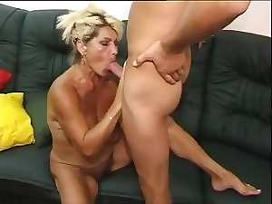Older hirsute mother shagging 19yo dude